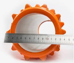 Массажный валик (MS 1843-1OR) / Оранжевый / 45х14 см. (шипы)., фото 3