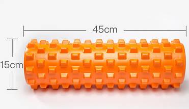 Массажный валик (MS 1843-1OR) / Оранжевый / 45х14 см. (шипы)., фото 2