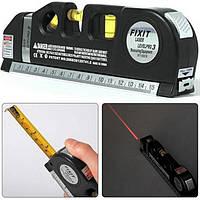 Лазерный уровень с рулеткой FIXIT LASER PRO 3 нивелир 3 в 1, фото 1