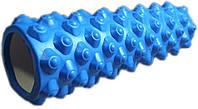 Массажный ролл Profi (0857-5BL-45) 45х14 см. Синий