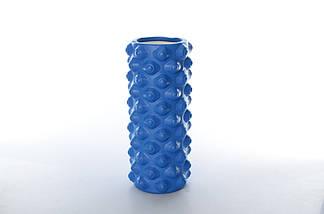 Массажный ролл Profi (0857-5BL-45) 45х14 см. Синий, фото 2