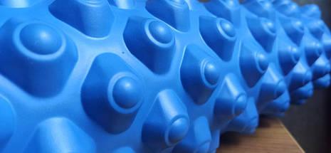 Массажный ролл Profi (0857-5BL-45) 45х14 см. Синий, фото 3