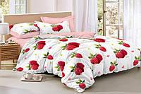 Двуспальный комплект постельного белья евро 200*220 сатин (15604) TM КРИСПОЛ Украина