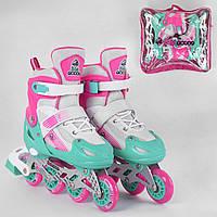 Ролики BEST ROLLER 60407-L 38-42 розовый, фото 1