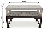 Комплект садовой мебели Allibert by Keter Corfu Club 3 Set Lyon Brown ( коричневый ), фото 9