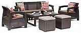 Комплект садовой мебели Allibert by Keter Corfu Club 3 Set Lyon Brown ( коричневый ), фото 2