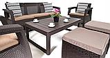 Комплект садовой мебели Allibert by Keter Corfu Club 3 Set Lyon Brown ( коричневый ), фото 3