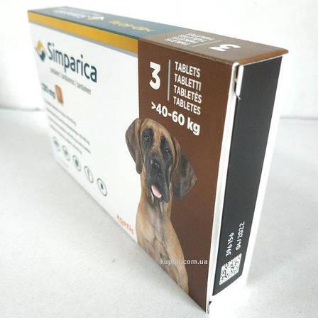 Сімпаріка (вага 40 - 60 кг) 120 мг 3 таблетки від бліх та кліщів для собак (Сімпаріка, США, 10022533), фото 2