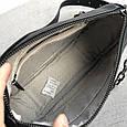 Сумка клатч с цепочкой и широким ремешком / натуральная кожа (348) Черный, фото 4