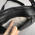 Сумка клатч с цепочкой и широким ремешком / натуральная кожа (348) Черный, фото 7