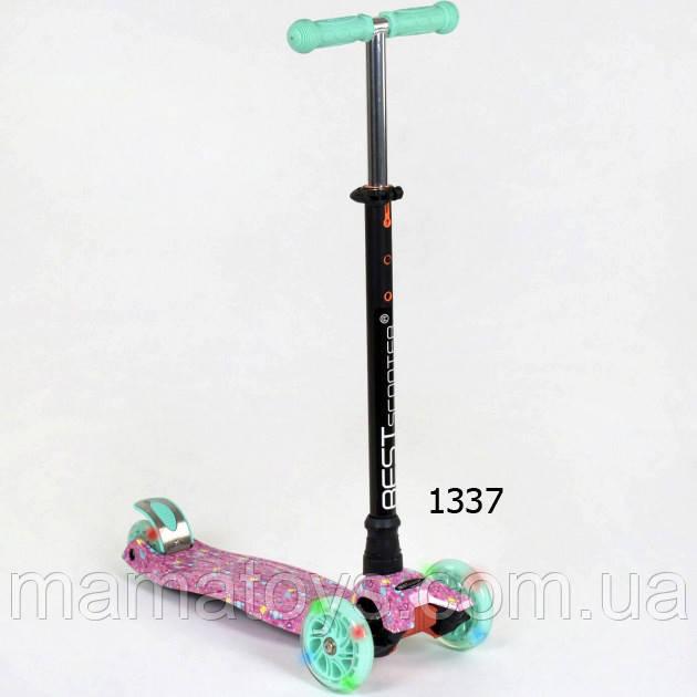 Детский трехколесный Самокат А 25594 /779-1337 Best Scooter Макси колеса PU, светятся