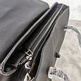 Большая сумка бочонок с ручками на плечо / натуральная кожа (349-L) Черный, фото 3