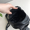 Рюкзак карман спереди фактура рептилия / натуральная кожа (2871) Черный, фото 2