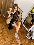 Женское мерцающее сверкающее мини с драпировкой для вечерники, фото 3