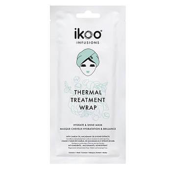 Термальная маска-шапочка увлажнение и блеск Ikoo Thermal Treatment Wrap Hydrate & Shine 35 г