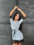 Женское  мини платье  с блестящим напылением с рюшами, фото 6