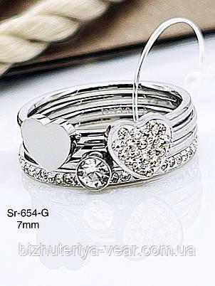КОЛЬЦО STAINLEES STEEL(ПРЕМИУМ) Sr-654(6,7,8,9), фото 2