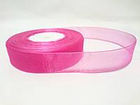 Лента органза розовая 2,5см