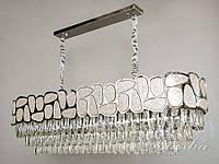 Хрустальная люстра овальной формы для гостиной 20029-1050x350HR