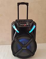 Большая блютуз колонка 150 Вт, мощная уличная bluetooth колонка Tritronix TS SL-1230 с радио микрофоном