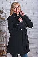 Пальто женское кашемировое черный