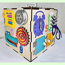 "Бизикуб 30*30*30 на ""Тучка"" 38 элементов - развивающий домик, бизиборд, бизидом, бизикубик, фото 2"