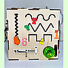 "Бизикуб 30*30*30 на ""Тучка"" 38 элементов - развивающий домик, бизиборд, бизидом, бизикубик, фото 3"