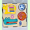 "Бизикуб 30*30*30 на ""Тучка"" 38 элементов - развивающий домик, бизиборд, бизидом, бизикубик, фото 4"