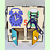 "Бизикуб 30*30*30 на ""Тучка"" 38 элементов - развивающий домик, бизиборд, бизидом, бизикубик, фото 6"