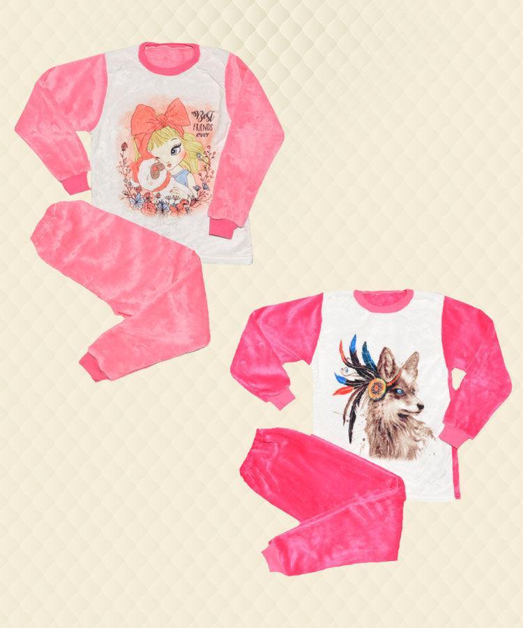 Пижама подростковая для девочки  фотопечать велсофт
