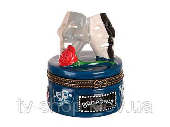 Шкатулка фарфоровая Театральные маски ,6х6 см