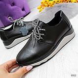 Стильные повседневные черные женские кроссовки натуральная кожа, фото 6