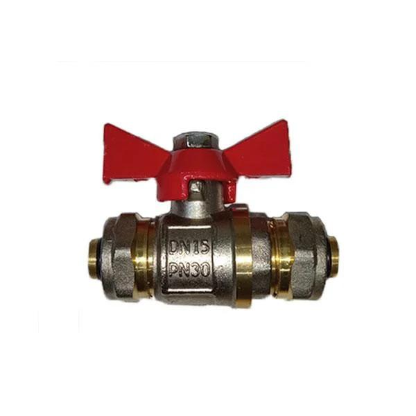 Кран (вінг) для металопластикової труби 20х20
