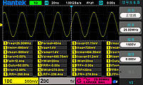 Hantek DSO-2D15 осциллограф 2 х 150 МГц, + AWG 25МГц, фото 7