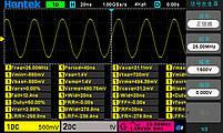 Hantek DSO-2D10 осциллограф 2 х 100 МГц, + AWG 25МГц, фото 3