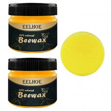 Натуральный полироль для дерева BeeWax пчелиный воск, для востановления внешнего вида дерева, 80g, фото 2
