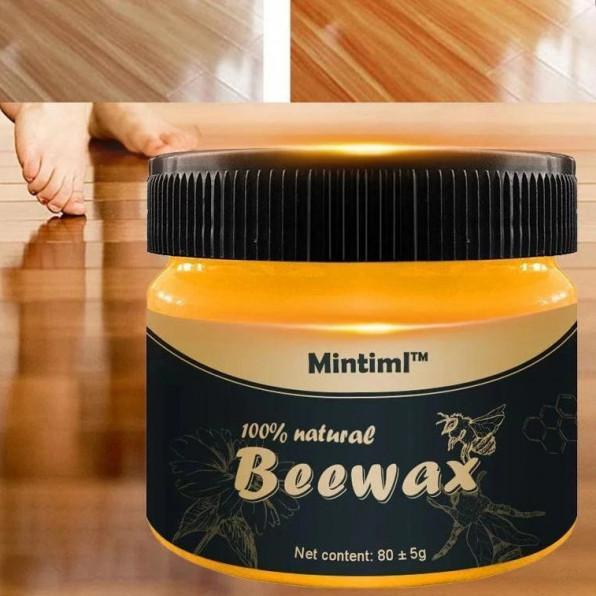 Натуральный полироль для дерева BeeWax пчелиный воск, для востановления внешнего вида дерева, 80g