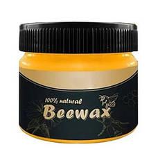 Натуральный полироль для дерева BeeWax пчелиный воск, для востановления внешнего вида дерева, 80g, фото 3