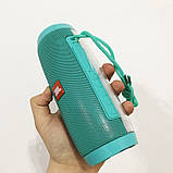 Портативная bluetooth колонка влагостойкая TG-157 Pulse с разноцветной подсветкой. Цвет: бирюзовый, фото 4