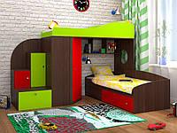 Кровать-чердак для двух детей, со шкафом КЧД 102 (80х190 см)