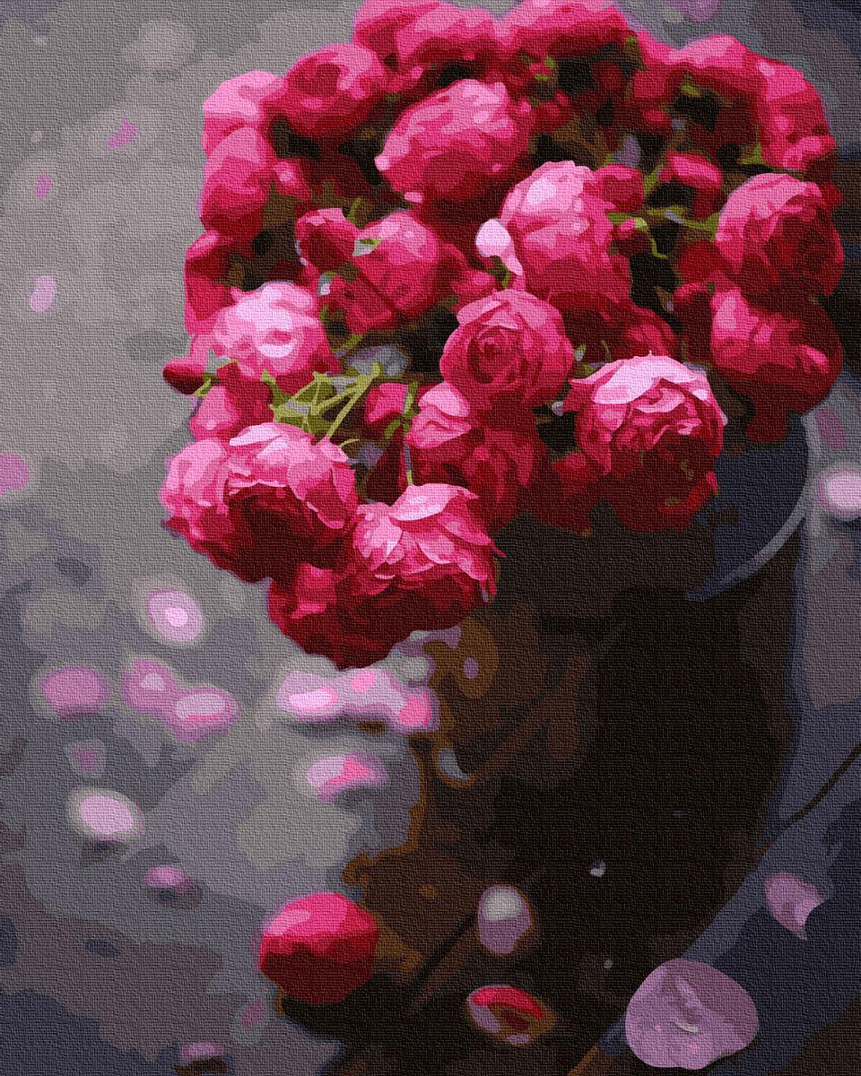 BK-GX37865 Набор живописи по номерам Ярко-розовое великолепие, Без коробки