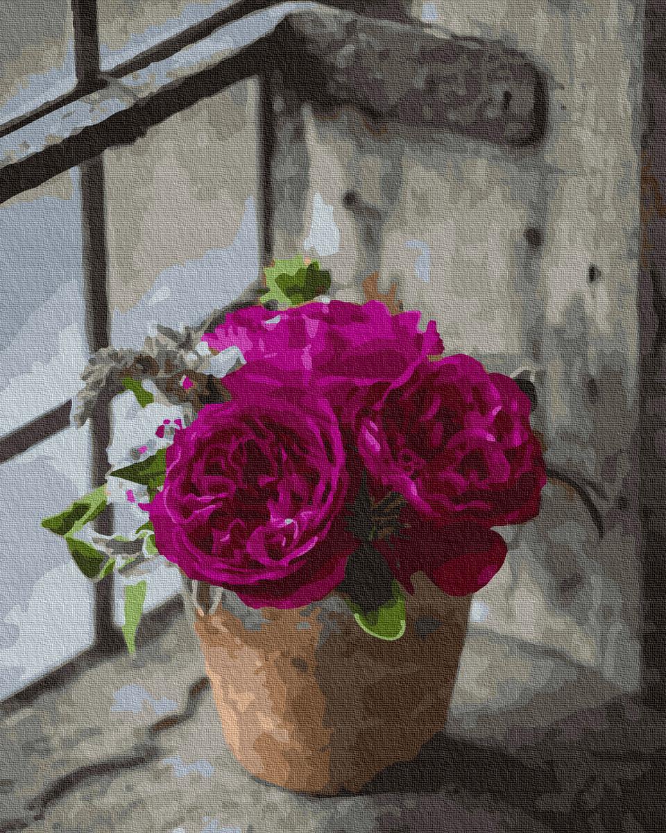 BK-GX37825 Набор живописи по номерам Пышные рози, Без коробки