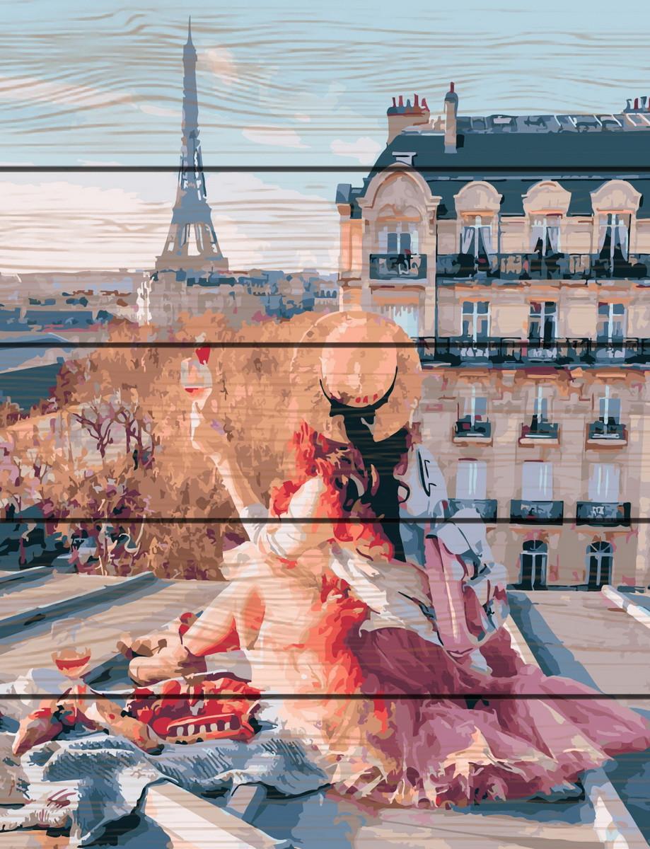 RA-GXT25419 Раскраска по номерам на деревяной основе Красота Парижа