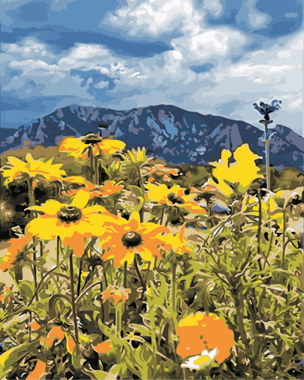 AS0865 Набор для рисования по номерам Весна в горах, В картонной коробке