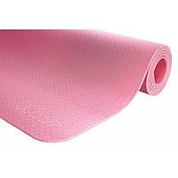 Коврик (мат) для йоги и фитнеса 4FIZJO TPE 6 мм 4FJ0152 Pink