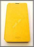 Желтый кожаный чехол Mofi для смартфона Microsoft Lumia 535, фото 1