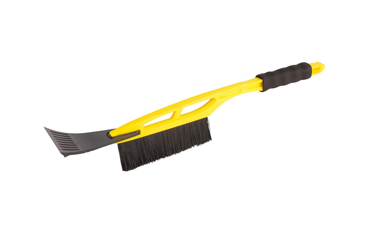 Щітка автомобільна зі скребком 175 * 10 мм L 520 мм, жовта Mastertool (84-0003)