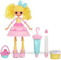 Игровой набор Кукла Лалалупси Свеча на торт Сладкая Фантазия с массой для лепки - Lalaloopsy Girls Cake