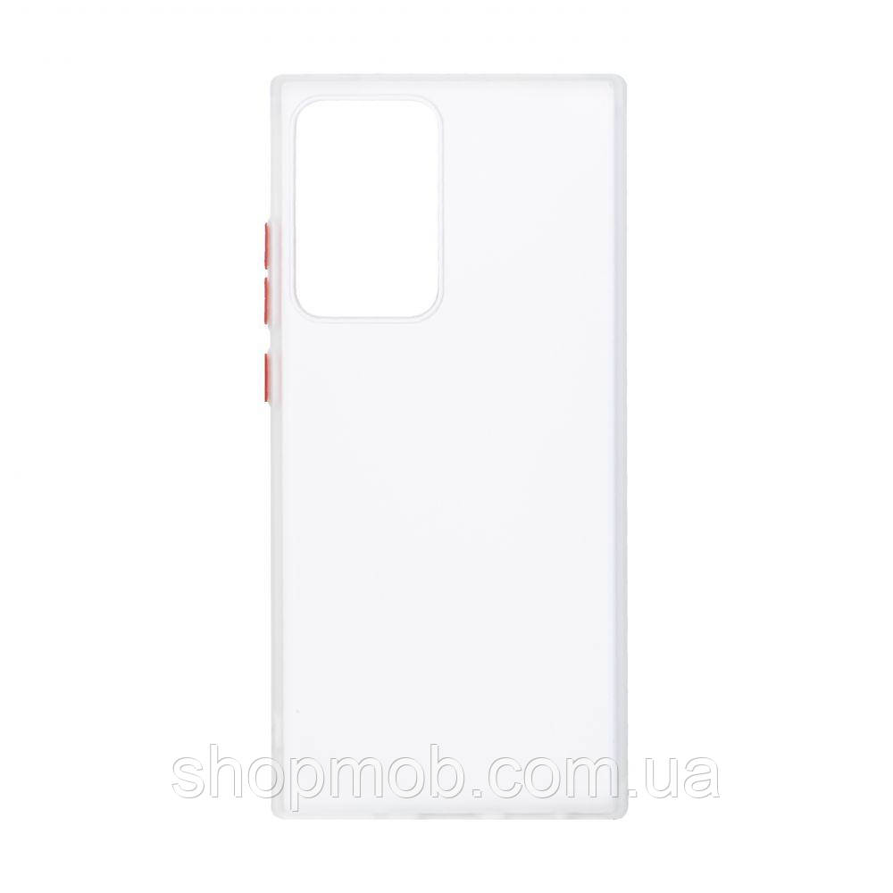 Чехол Totu Copy Gingle Series for Samsung Note 20 Ultra Цвет Белый