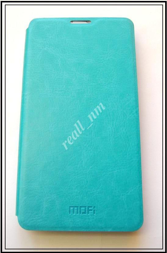 Бирюзовый кожаный чехол Mofi для смартфона Microsoft Lumia 535